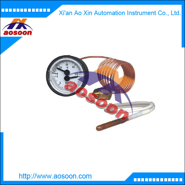 wika Thermomanometer for pressure and temperature measurement wika MFT