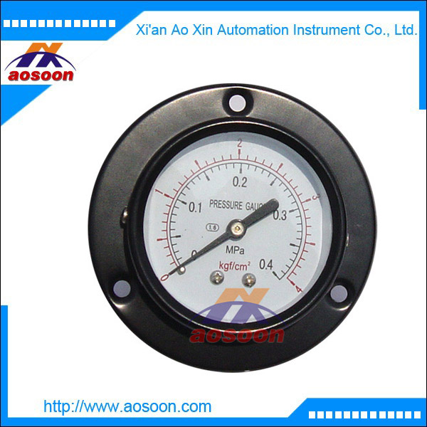 China Surface mounting pressure gauge Dial size 40mm/50mm/60mm/100mm/160mm/200mm/250mm