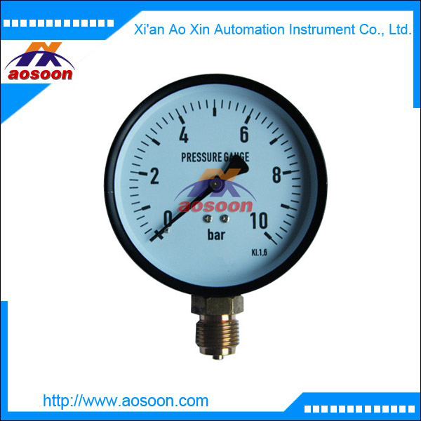 China iron case pressure gauge stainless steel case pressure gauge